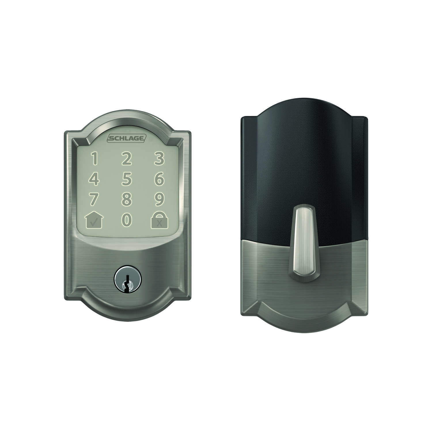 Schlage  Encode  Satin Nickel  Metal  Wifi Deadbolt