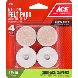 Shepherd Hardware Prod  Beige  1-1/2 in. Nail-On  Felt  Cushioned Glide  4 pk