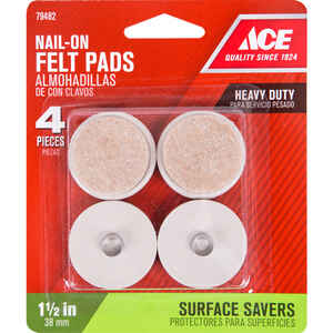 Ace  Felt  1.5 in. Tap On  Cushioned Glide  4