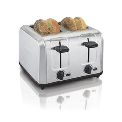 Hamilton Beach  Metal  Silver  4 slot Toaster  10.9 in. H x 11.2 in. W x 7.5 in. D