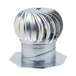 Air Vent  19.3 in. H x 19.3 in. L x 19.3 in. W x 19.8 in. Dia. Mill  Aluminum  Turbine and Base