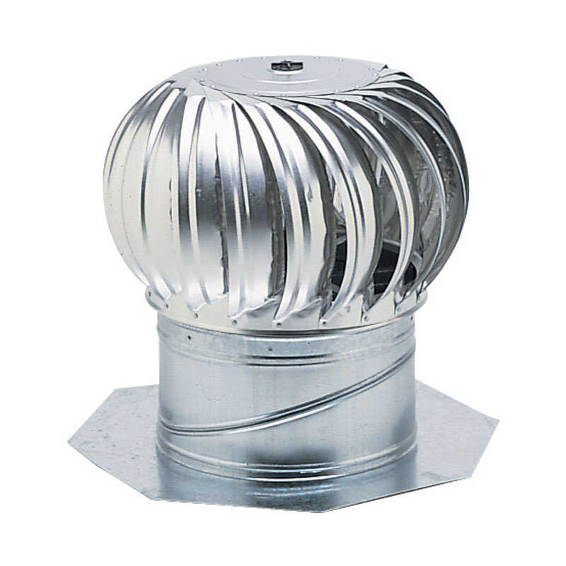 Air Vent  19.3 in. H x 19.3 in. W x 19.3 in. L x 19.8 in. Dia. Mill  Aluminum  Turbine and Base