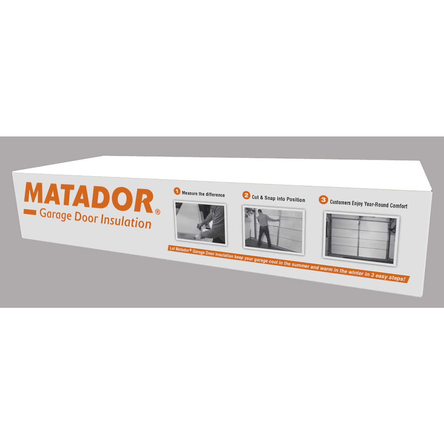 Matador  21 in. W x 55 in. L 4.8  Garage Door Insulation Kit  Batt  49 sq. ft.