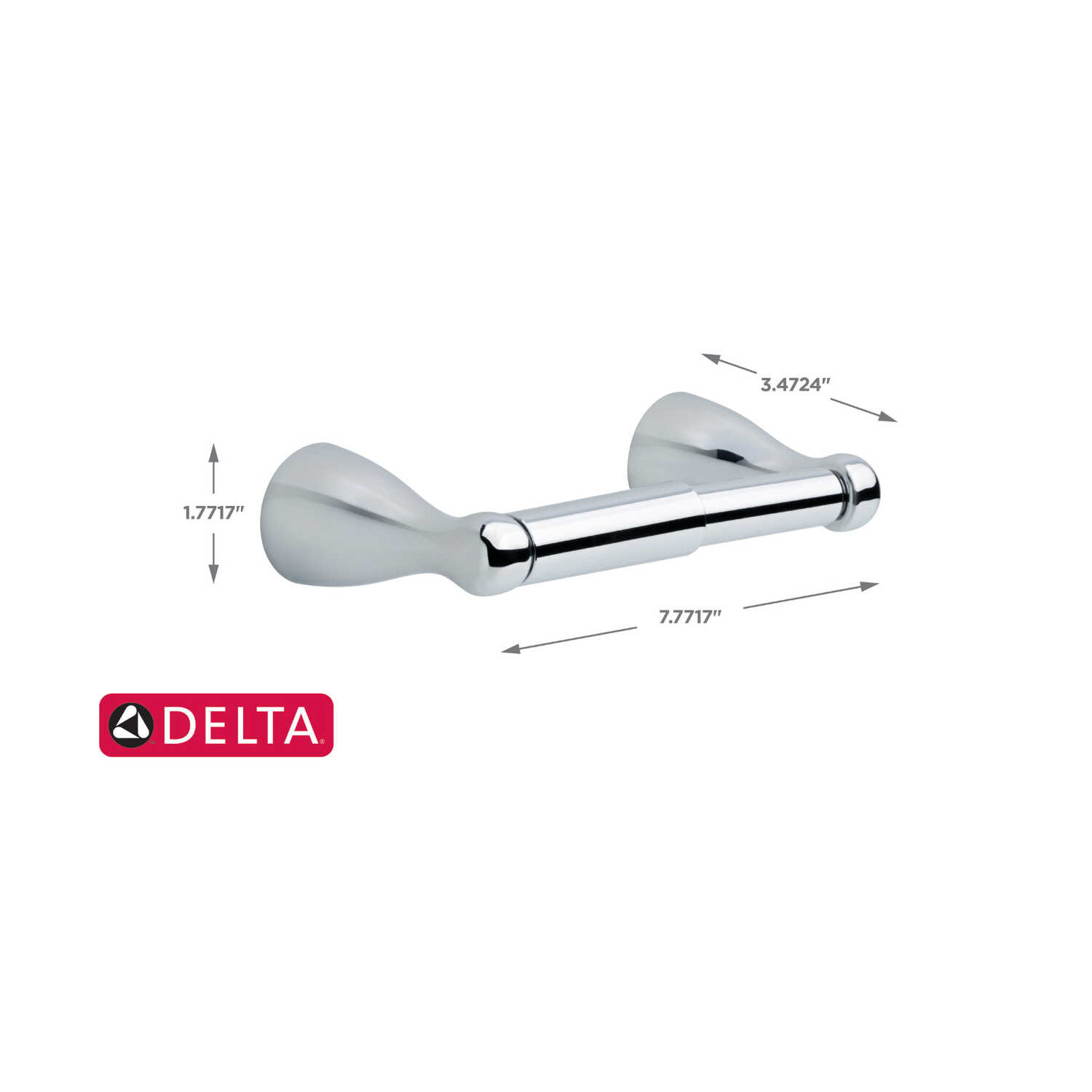 Delta  Foundations  Chrome  Silver  Toilet Paper Holder
