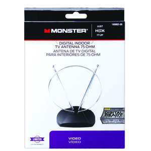 Monster Cable  Indoor  FM/HDTV/UHF/VHF  Antenna  1
