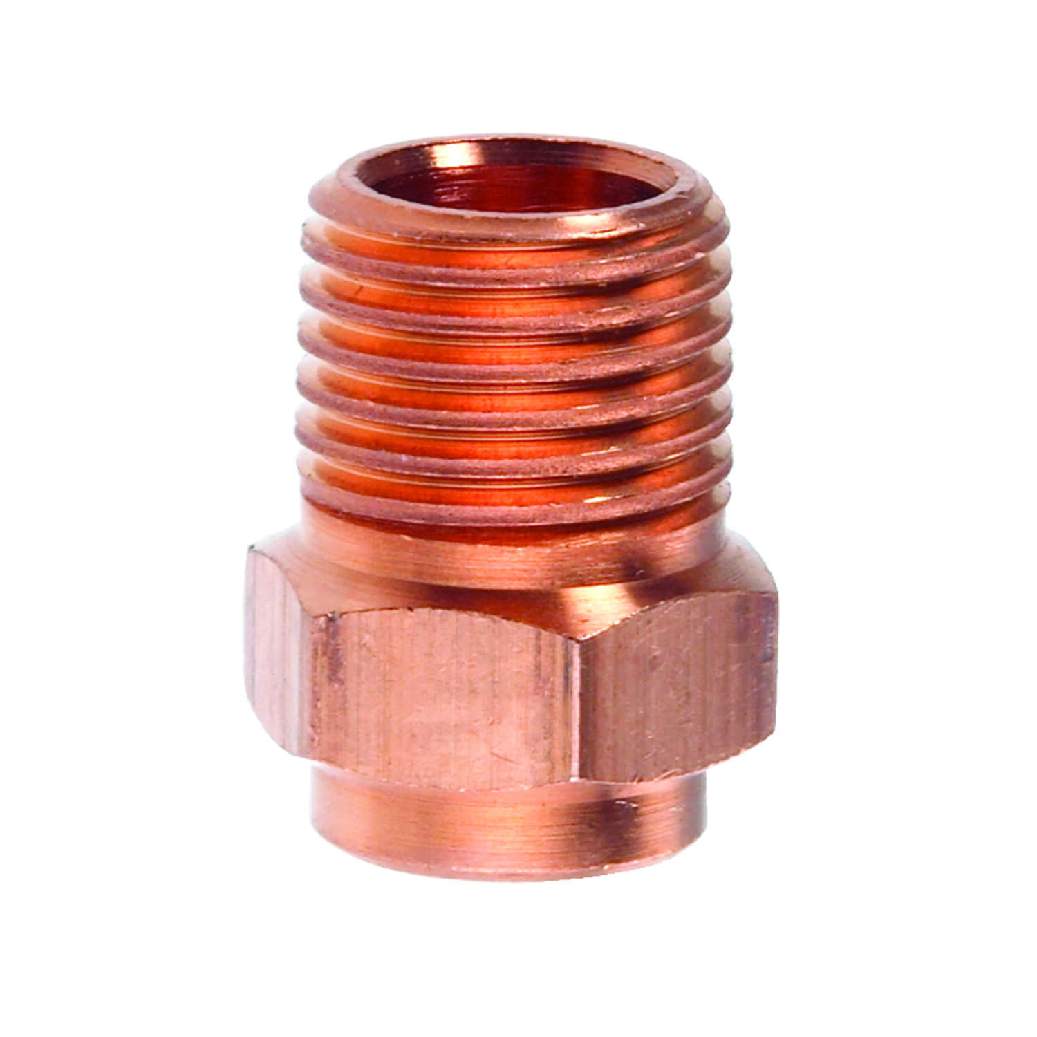 Elkhart  1/4 in. Dia. x 1/4 in. Dia. Copper To MIP  Copper  Pipe Adapter
