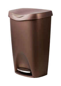 Umbra  13.2 gal. Bronze  Step On  Wastebasket