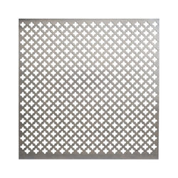 M-D 0.02 in. x 1 ft. W x 1 ft. L Aluminum Cloverleaf Sheet Metal