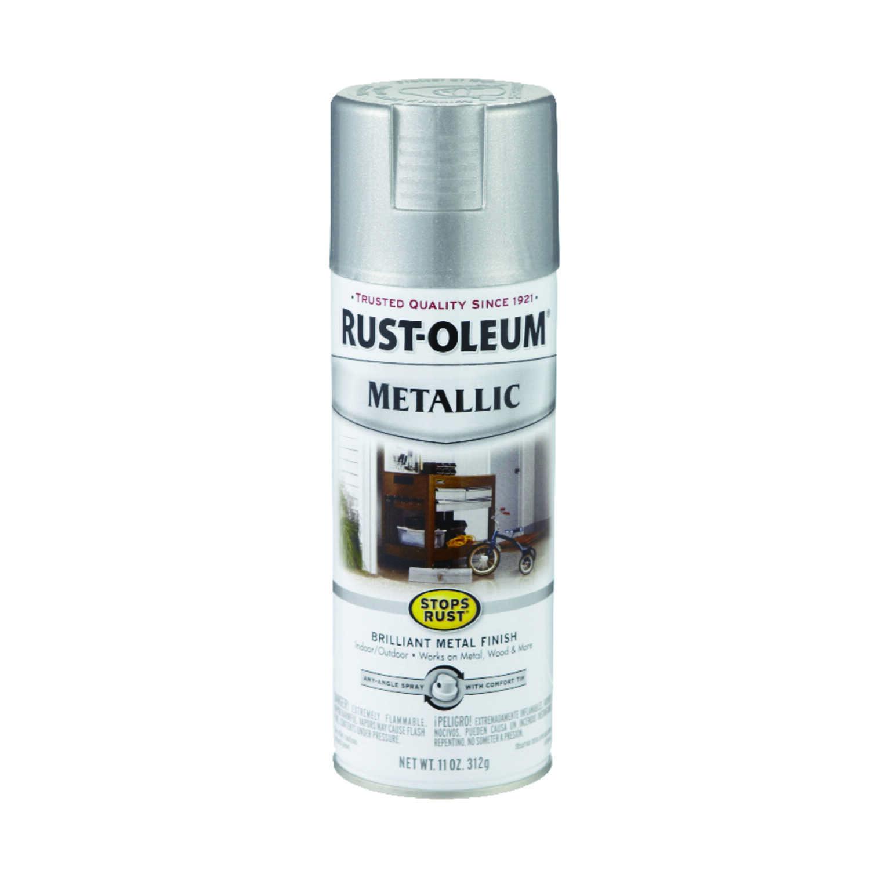 Rust-Oleum Stops Rust Silver Spray Paint 11 oz  - Ace Hardware