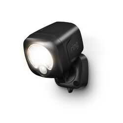 Ring  Motion-Sensing  Battery Powered  LED  Black  Spotlight