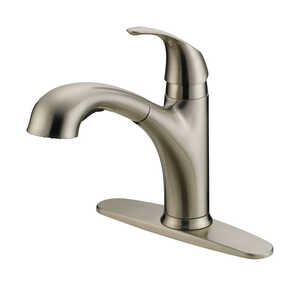 OakBrook  Washerless Cartridge  One Handle  Nickel  Kitchen Faucet