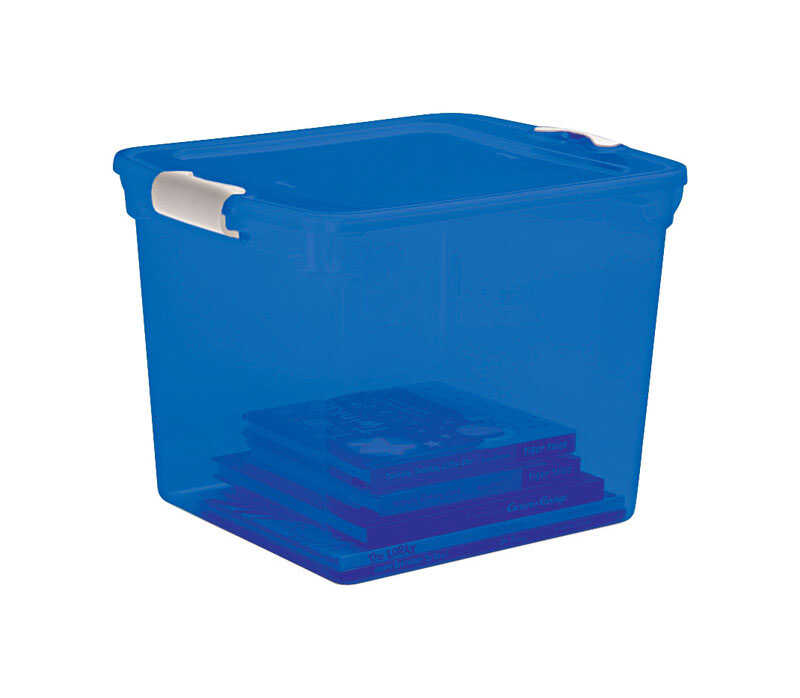 Homz  12-1/8 in. H x 13 in. W x 16.25 in. D Stackable Storage Box