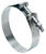 Ideal  Tridon  1.88 in. to 2.19 in. SAE 188  Hose Clamp With Tongue Bridge  Stainless Steel Band  T-