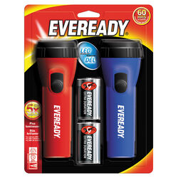 Eveready 25 lumens Blue/Red LED Flashlight D Battery