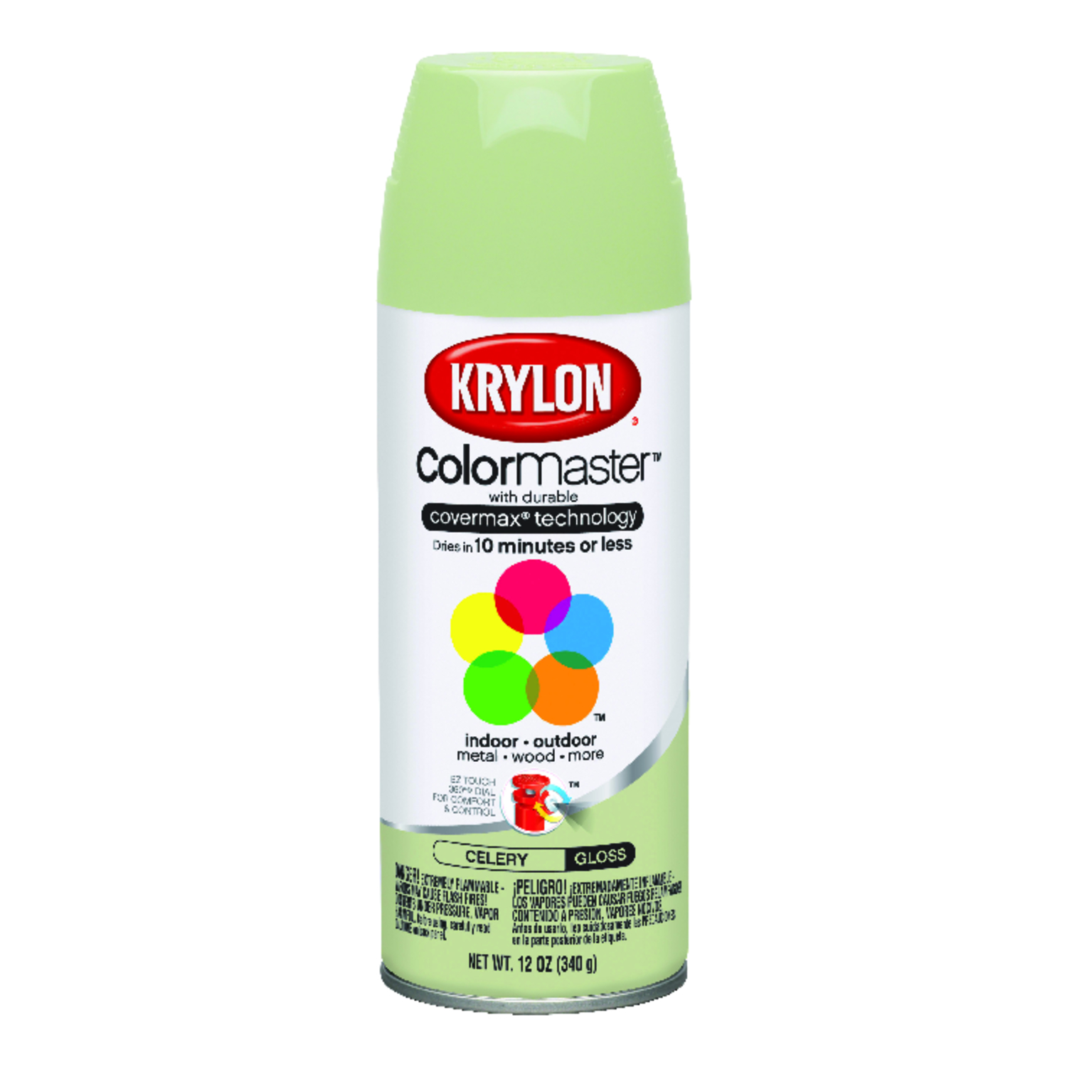 Krylon  ColorMaster  Gloss  Spray Paint  Celery  12 oz.