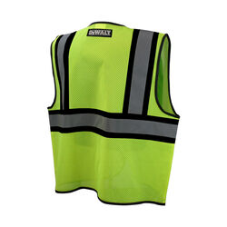 DeWalt  Reflective Polyester Mesh  Class 2 Hi-Vis  Safety Vest  Green  XL