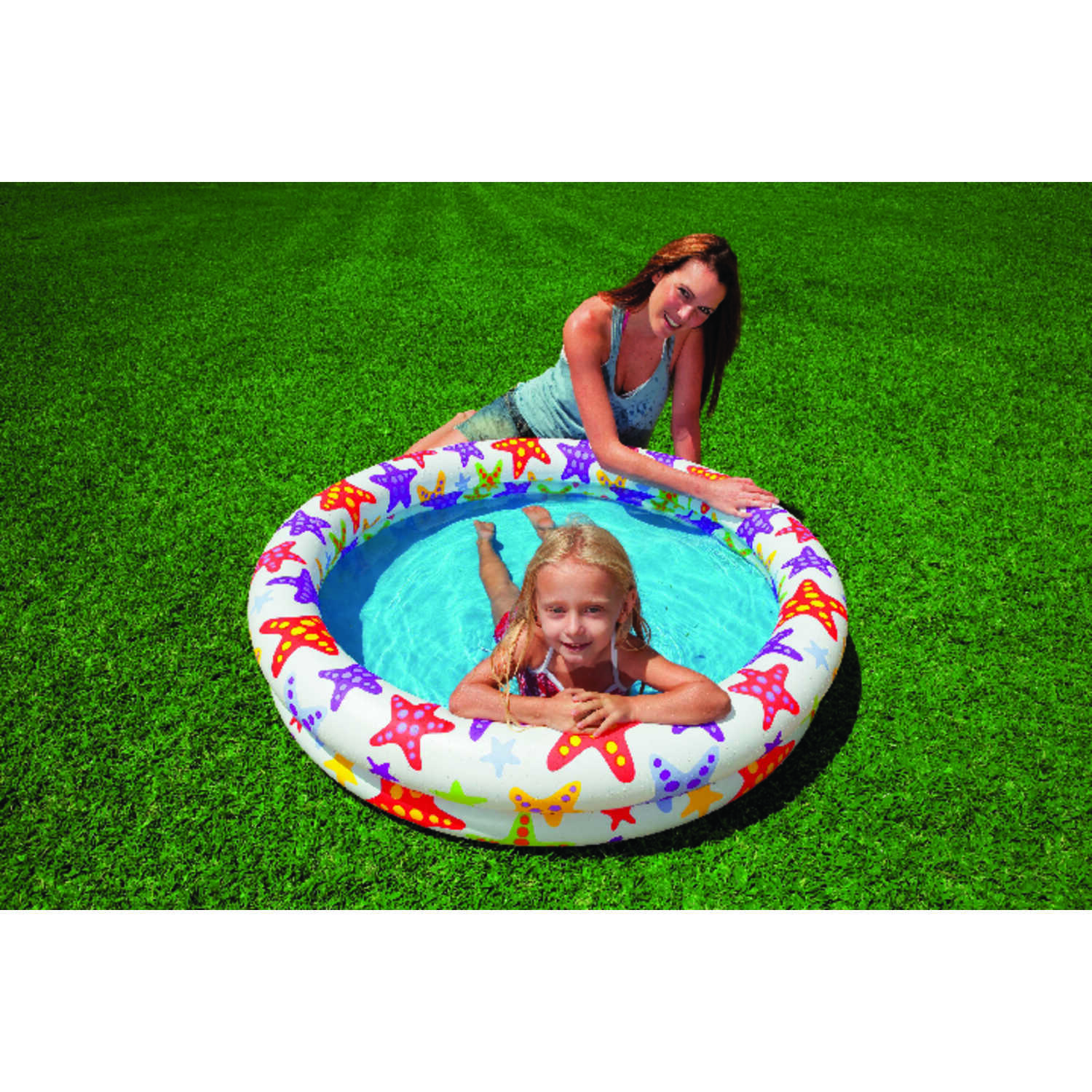 Intex  35 gal. Round  Inflatable Pool  10 in. H x 48 in. Dia.