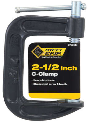Steel Grip 2-1/2 in. Adjustable C-Clamp 1 pc.