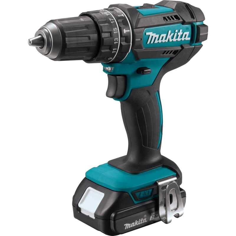 Makita  CXT  18 volt Brushed  Cordless Hammer Drill/Driver  1/2 in. Kit 1900 rpm Kit