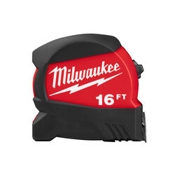 Milwaukee 16 ft. L x 1-1/8 in. W Compact Wide Blade Tape Measure 1 pk
