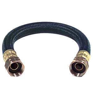 Brasscraft  3/4 in. FIP   x 3/4 in. Dia. FIP  Polymer  Water Heater  Supply Line  12 in.
