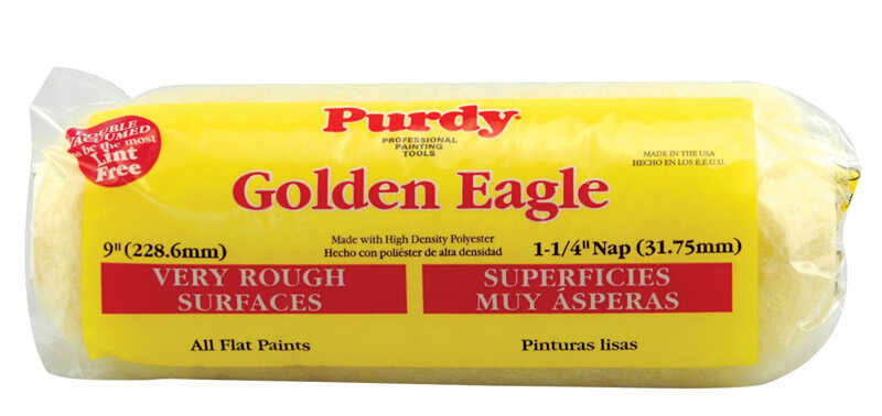 Purdy  Golden Eagle  Polyester  1-1/4 in.  x 9 in. W Paint Roller Cover  For Very Rough Surfaces 1 p