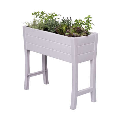NuVue  32 in. H x 35.75 in. W x 11 in. D x 15 in. Dia. PVC  Elevated Garden Box  White