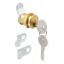 Prime-Line  Brass Plated  Steel  Mailbox Lock