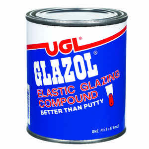 UGL  Glazol  White  Glazing Compound  1 pt.