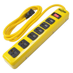 Coleman Cable  6 ft. L 6 outlets Power Strip  Yellow
