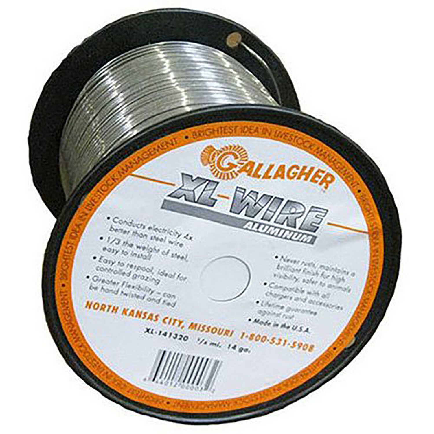 Gallagher  Electric  Electric Fence Wire  1/4 mi. Silver