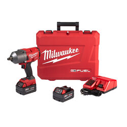 Milwaukee  M18 FUEL  1/2 in. Cordless  Brushless Impact Wrench with Friction Ring  Kit  18 volt 5 am