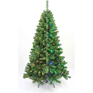 Celebrations  Home  Multicolored  Prelit 6-1/2 ft. LED Artificial Tree  Christmas Tree  670 tips 200