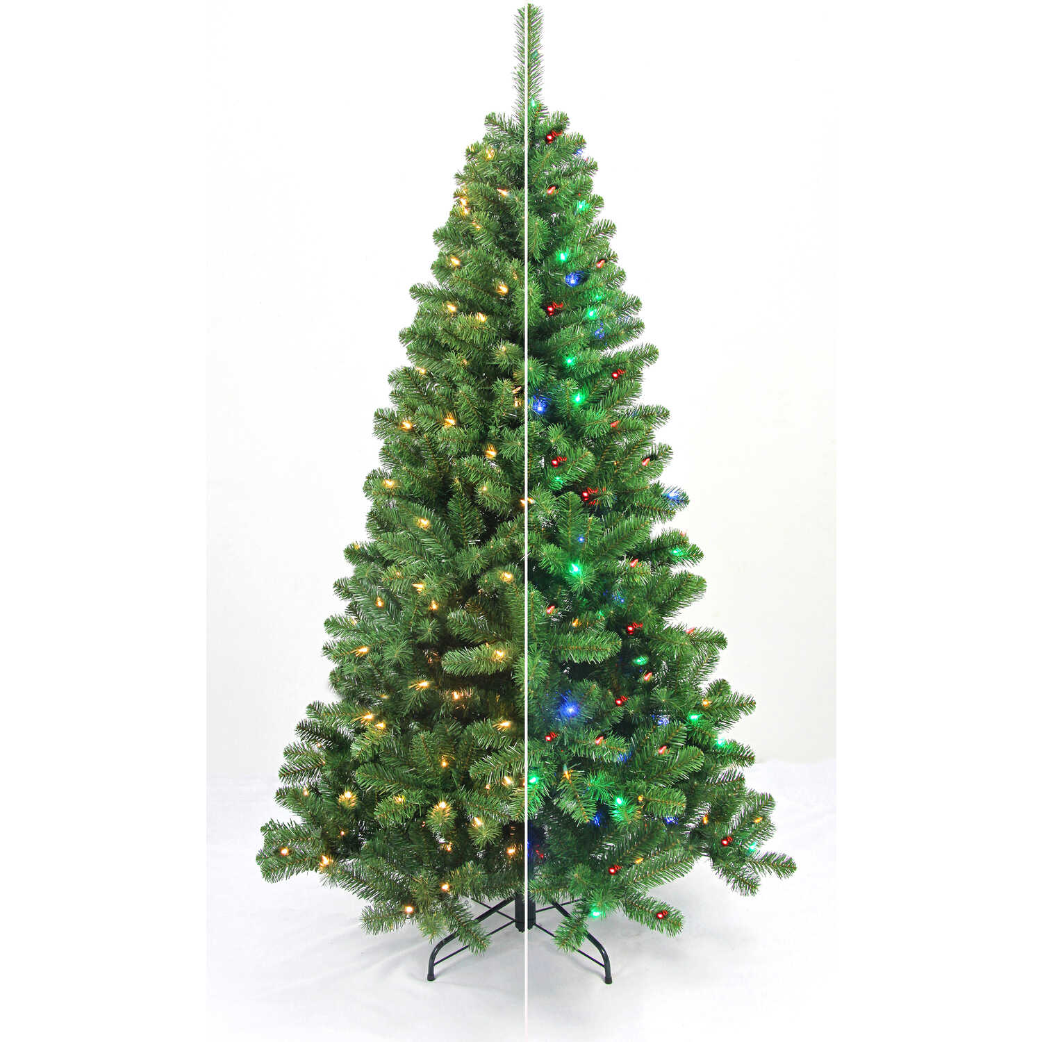 Celebrations  Home  6-1/2 ft. Multicolored  Prelit Christmas Tree  LED Artificial Tree  200 lights