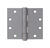 Tell  4-1/2 in. L Prime Coat  Door Hinge  3 pk