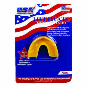 All American Ultimate  Adult  Yellow  Athletic Mouthguard