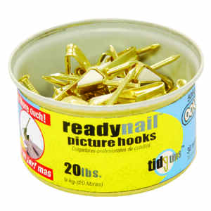 OOK  OOK  Brass-Plated  Steel  Picture Hook  20 lb. 30 pk Standard