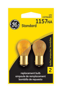 GE Miniature Lamps 1157NA-BP For Turn Signal, Stop, Tail and Parking 12 volts Amber 2 Carded