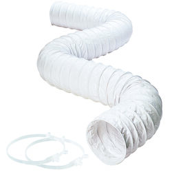Deflect-O  8 ft. L x 3 in. Dia. White  Vinyl  Dryer and Vent Hose