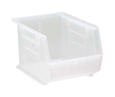 Quantum Storage 10-3/4 in. L x 8-1/4 in. W x 7 in. H Storage Bin Plastic 1 compartment Clear