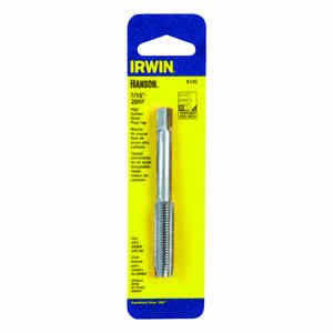 Irwin  Hanson  High Carbon Steel  SAE  Fraction Tap  7/16 in.-20NF