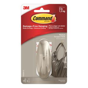 3M  Command  Medium  Plastic  Hook  3-1/8 in. L 1 pk