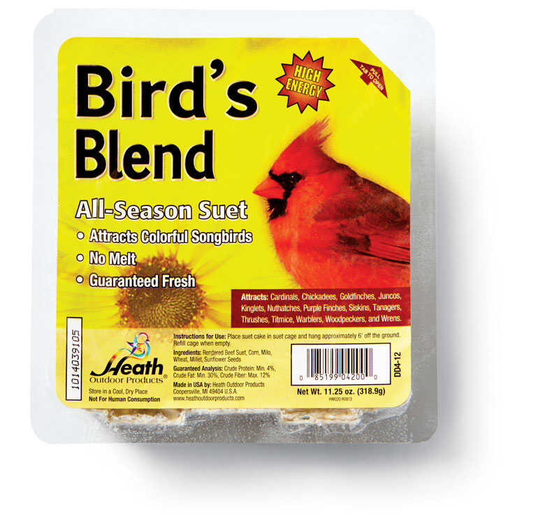 Heath Bird's Blend Songbird Suet Beef Suet 11 25 oz  - Ace