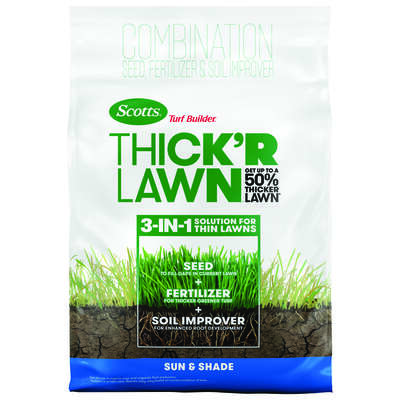 Scotts Turf Builder Thick'R Lawn All-Purpose 9-1-1 Fertilizer & Seed 4000 sq. ft. For Multiple