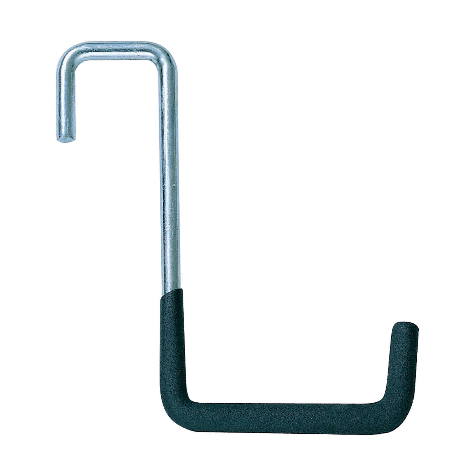 Crawford  7.68 in. L Black  Steel  Heavy Duty Super Rafter  Hook  50 lb. 1 pk Vinyl Coated