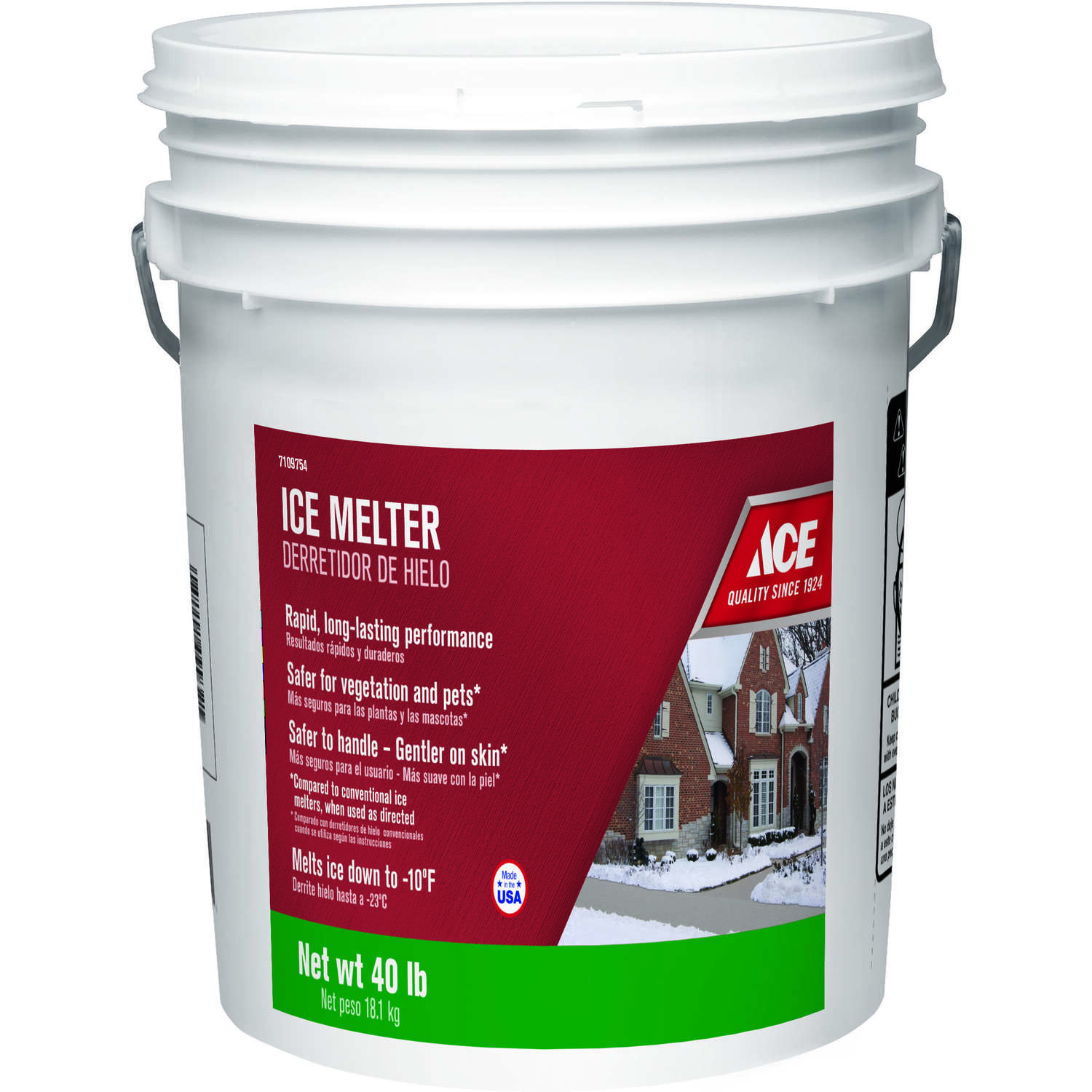 Ace Sodium Chloride and Magnesium Chloride Granule Ice Melt 40 lb.