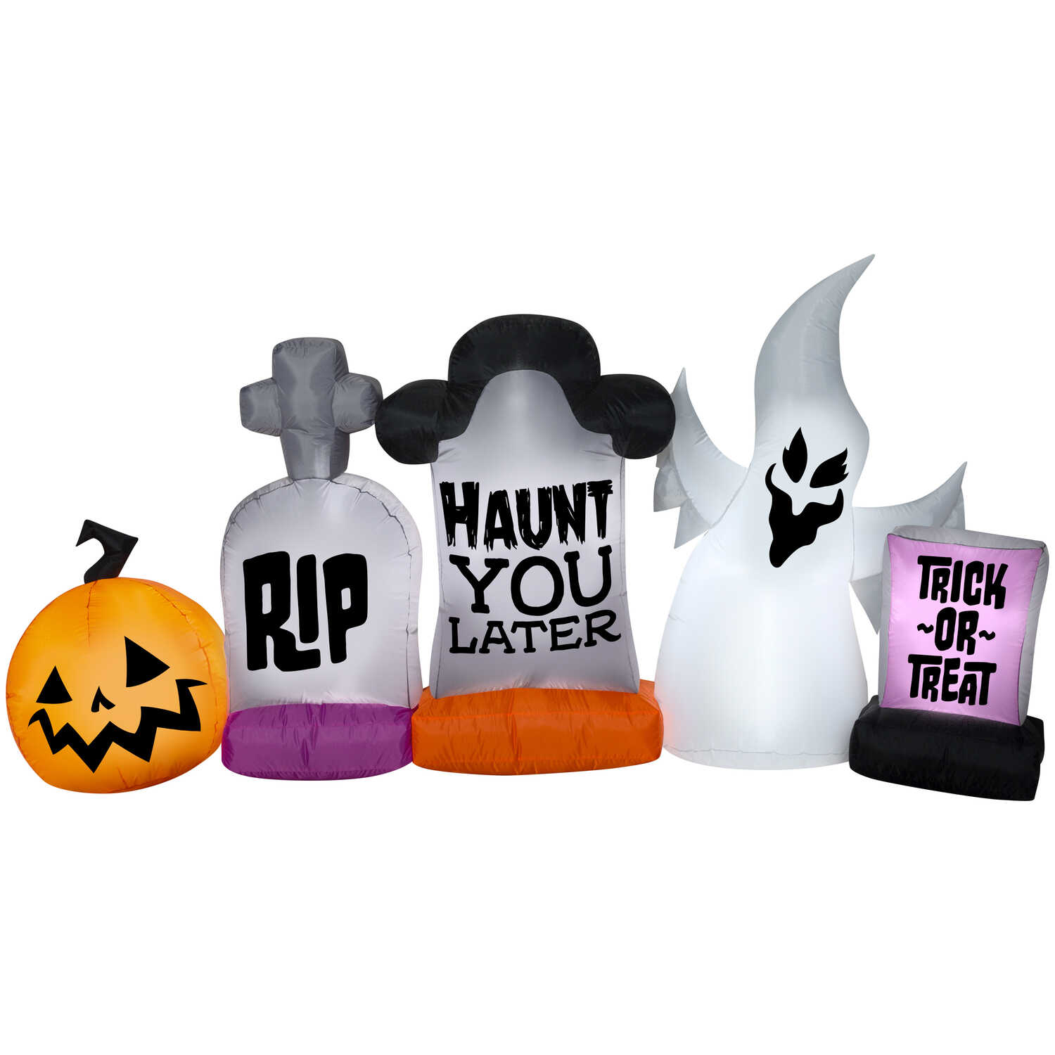 Gemmy  Graveyard Stone  Halloween Inflatable  55 in. H x 108 in. W x 22 in. L