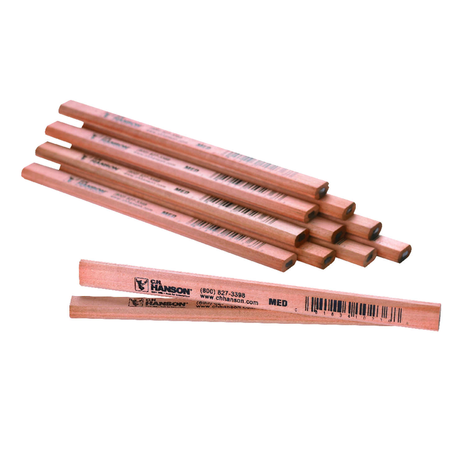 C.H. Hanson  7 in. L x 0.5 in. W Carpenter Pencil  Beige  Wood  1 pc.