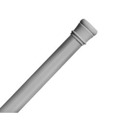 Zenith  Shower Curtain Rod  72 in. L Silver