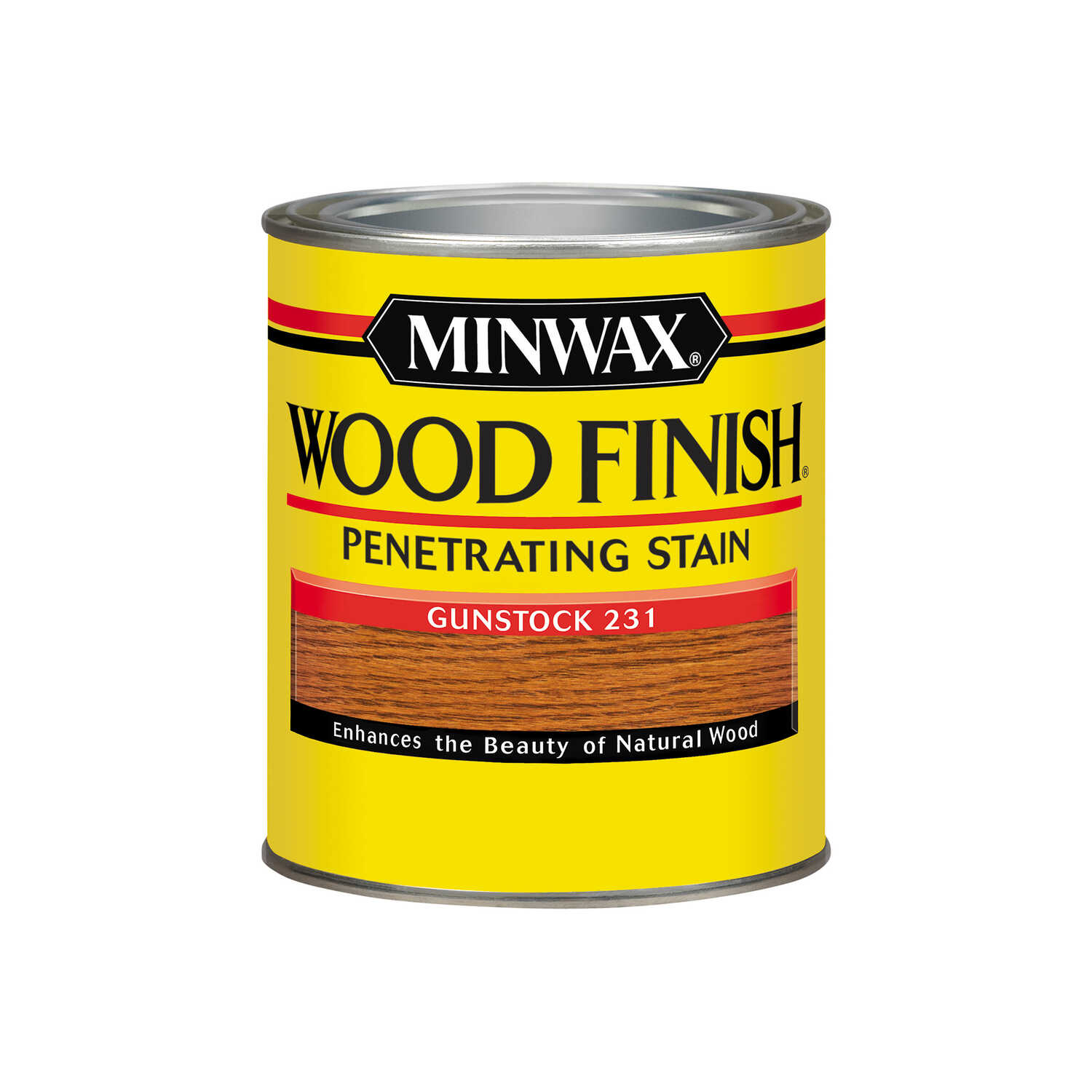 Minwax  Wood Finish  Semi-Transparent  Gunstock  Oil-Based  Oil  Wood Stain  1 qt.